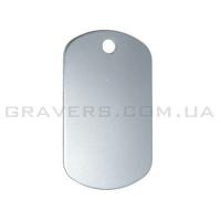 Жетон 38x22мм - серебристый