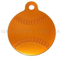 Адресник Мяч бейсбол 32мм - оранжевый
