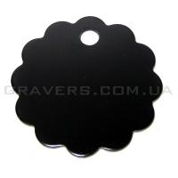 Адресник Облако 32мм - черное