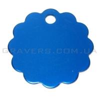 Адресник Облако 32мм - синее
