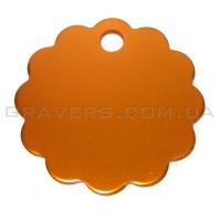 Адресник Облако 32мм - оранжевое