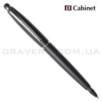 """Ручка шариковая Cabinet """"Fleur"""" черная"""