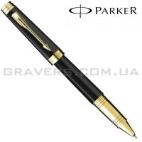 Ручка роллер Parker Premier Black Lacquer GT RB (89 722)
