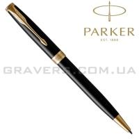 Шариковая ручка Parker SONNET Black Lacquer GT BP (86 032)
