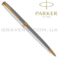 Шариковая ручка Parker Sonnet Stainless Steel GT BP (84 132)