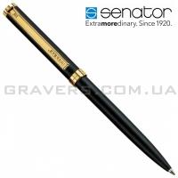 Ручка шариковая Senator Delgado (черно-золотистая)