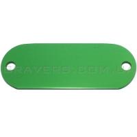 Жетон под заклёпки 19x50мм - зеленый