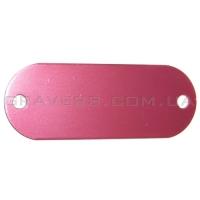 Жетон под заклёпки 19x50мм - розовый