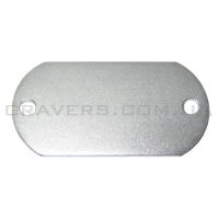 Жетон под заклёпки 22x45мм - серебристый