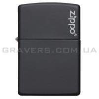 Зажигалка Zippo 218 ZL Black Matte w/Zippo Logo