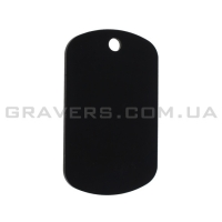 Жетон мини 38x22мм - черный