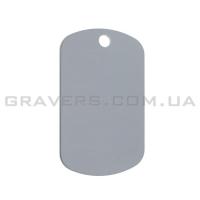 Жетон мини 38x22мм - серебристый