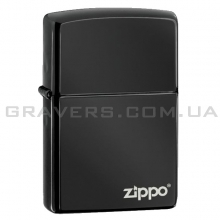 Зажигалка Zippo 24756 ZL Ebony w/Zippo Logo
